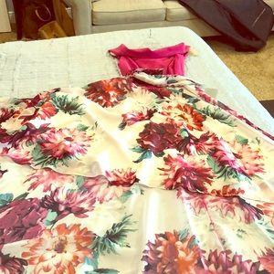 Eliza J Flowy Flowery High Low Dress
